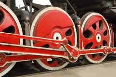 Big old locomotive wheels Stock Photography