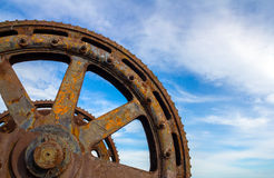 Big and Old Machinery Gears Royalty Free Stock Photography