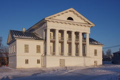 Big old mansion in the winter. In the Perm region Stock Photos