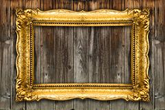 Big Retro Old Gold Picture Frame stock photography