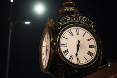 Big old style clock Royalty Free Stock Photos