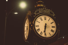 Big old style clock Royalty Free Stock Photo