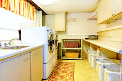 Big old style laundry room Royalty Free Stock Images
