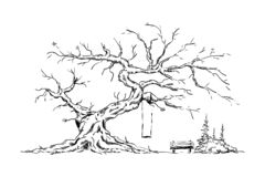 Big old tree royalty free illustration