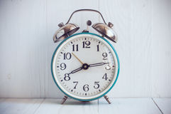 Big old vintage alarm clock Stock Images
