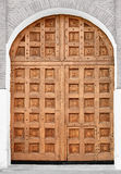 Big old wooden gate - Moscow Kremlin, Russia. Royalty Free Stock Photo