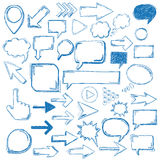 Big Oldschool Elements Bubbles Arrows Markers Royalty Free Stock Images