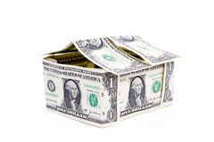 Big One American Dollar House Royalty Free Stock Photography
