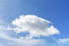 Big one cloud. On blue sky royalty free stock photo