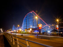 The Big One roller coaster ride illuminated Royalty Free Stock Photos