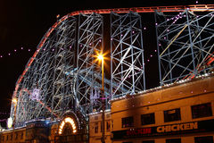 The Big One rollercoaster at Blackpool, UK. Royalty Free Stock Images