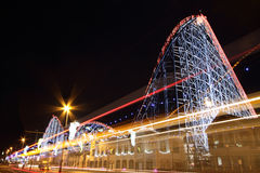 The Big One rollercoaster at Blackpool, UK. stock images