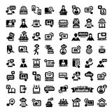 Big online education icons set Royalty Free Stock Photos