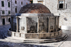 Big Onofrio's Fountain in Dubrovnik, Croatia. Big Onofrio's Fountain in Dubrovnik old town, Croatia Royalty Free Stock Image