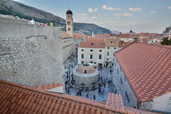 Big Onofrio`s fountain view from the walls. Dubrovnik. Croatia Royalty Free Stock Photography