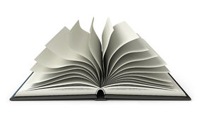 Big open book. White background. 3d render Stock Photography