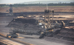 big open cast mining excavator Stock Photography