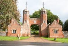 Big open entrance to fancy mansion estate long melford melford h Stock Photos