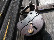 Big open padlock Royalty Free Stock Image