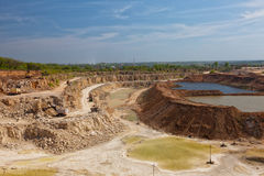 Big open pit Stock Photography