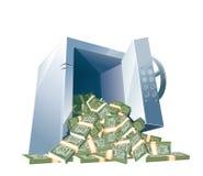 Big opened bank safe Stock Photography