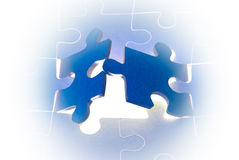 The big opportunities. Dark blue puzzles. It is a metaphor (the beginning; opening; end Royalty Free Illustration