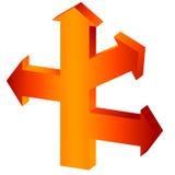 The big orange arrow Royalty Free Stock Image