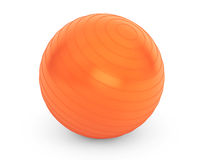 Big orange ball for fitness detail Royalty Free Stock Photography