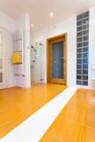 Big orange bathroom with heater Royalty Free Stock Photography