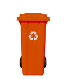 Orange garbage bin Stock Photos