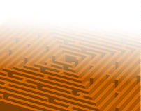 Big orange maze / labyrinth Stock Images