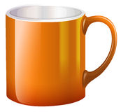 A big orange mug Stock Images