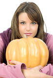 Big orange pumpkin Stock Images