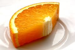 Big orange slice Royalty Free Stock Photos