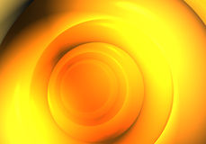 Big orange sphere. A Study of Form&Colors, rendered in Bryce Royalty Free Stock Image