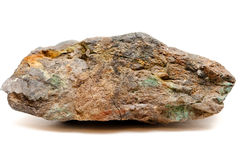 A big ore sample of silver, copper and gold Stock Photo