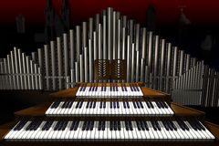 Big organ. Stock Photography