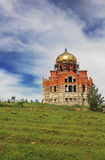 Big Orthodox church under construction royalty free stock image