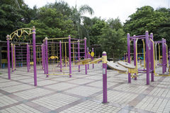 Big outdoor gym in the park. China Stock Image