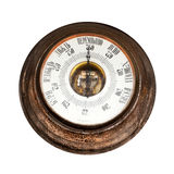 Big outdoor vintage barometer Royalty Free Stock Photos