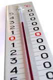 Big outside thermometer Stock Photography