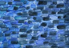Big overlapping brushstrokes of oil painting texture on canvas. royalty free illustration