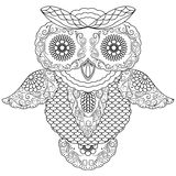 Big owl abstract outline Stock Image