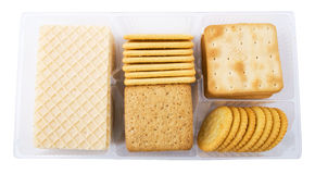 Big pack of different crackers Royalty Free Stock Photography