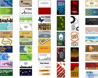 Big pack of different business card templates Stock Photography