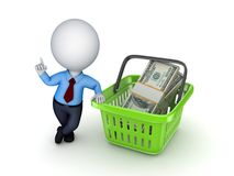 Big pack of dollars Stock Photography