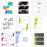 Big pack of vector banners. Include 24 trendy banners. Stock Photos