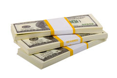 Big packs of dollars Royalty Free Stock Photography