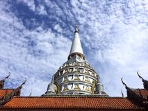 Big pagoda. The high pagoda on the blue sky backgroud Royalty Free Stock Images