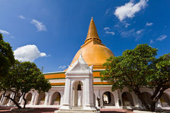 Big pagoda most in Thailand Royalty Free Stock Photo